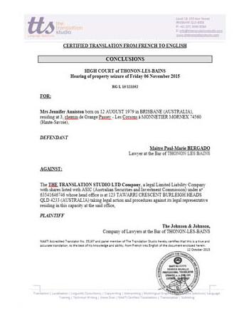 Legal Forms Translation
